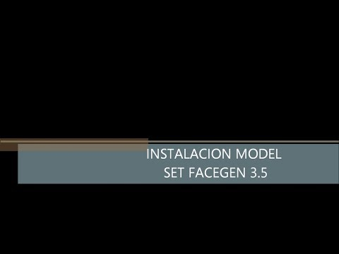 Instalacion model set para facegen 3.5 para pes 2014