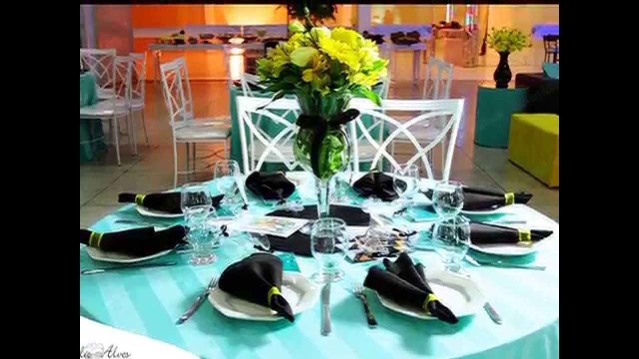decoracao azul e amarelo para aniversario:Festa De 15 Anos Azul Tiffany