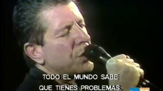 Leonard Cohen Everybody Knows (Live in Spain, 1988)