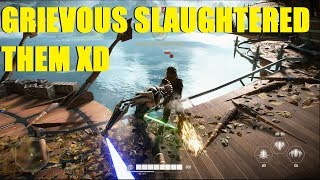 Star Wars Battlefront 2 - GENERAL GRIEVOUS ABSOLUTELY SLAUGHTERED THEIR HEROES! (2 games)