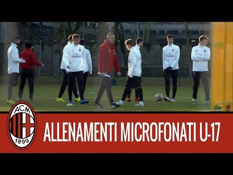 Milan Next: l'allenamento microfonato dei ragazzi dell'Under 17 rossonera