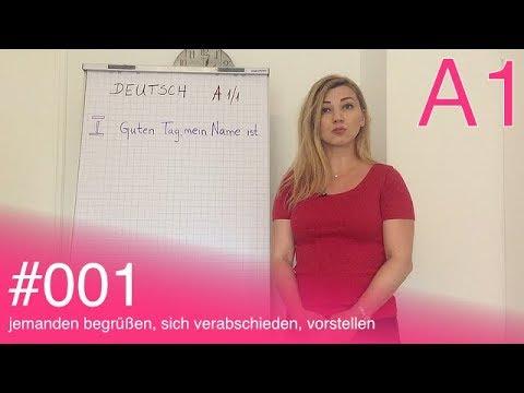 Njemački za početnike: Deutsch A1 - #001 - jemanden begrüßen, sich verabschieden, vorstellen