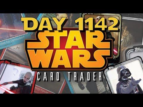 Star Wars Card Trader Day 1142 - Ooo, Pretty Base Cards!