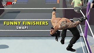 WWE 2K17 - Top 10 Finishers Swapping! Lesnar, Cena, Reigns, Seth Rollins, AJ Styles & More (PS4/XB1)