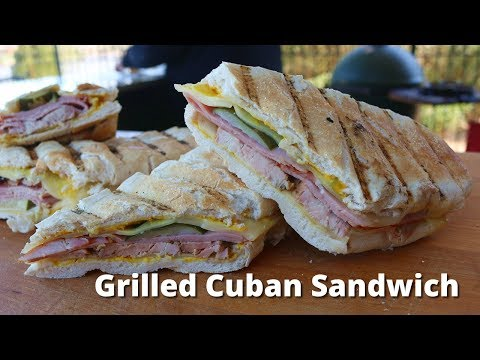Grilled Cuban Sandwich Recipe | Mojo Pork and Cuban Sandwich Grilled on Big Green Egg