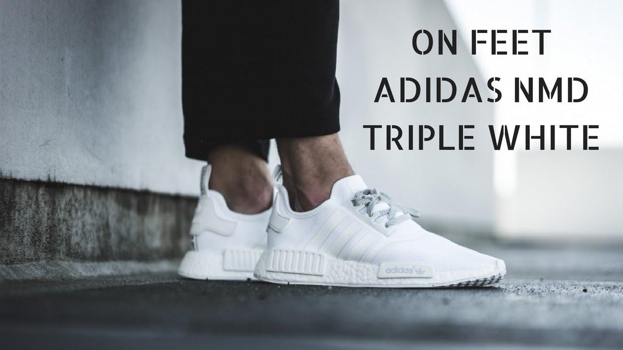 adidas nmd r1 triplo bianco veloce a piedi su youtube