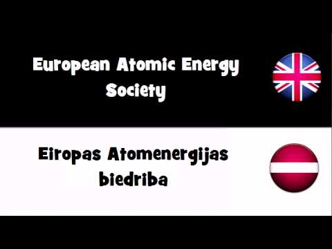 VOCABULARY IN 20 LANGUAGES = European Atomic Energy Society
