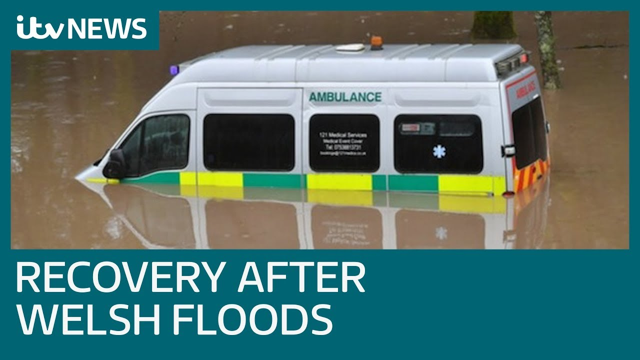 Storm Dennis: Recovery operation in Wales after major floods | ITV News