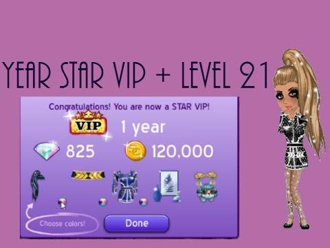 Moviestarplanet - 1 Year Star Vip +  Level 21