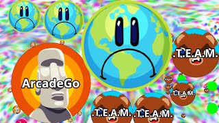 Agario Solo Battle To The Last Man Standing With Earth Skin! (Agar.io Best Moments)