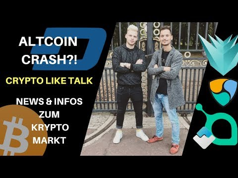 ALTCOIN & CRYPTO CRASH?! CRYPTO TALK LIVE -  Krypto markt NEWS - LISK, BTC, Litecoin, Coinmarketcap
