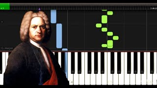 Bach - Invention 8 BWV 779 - Easy Piano Music