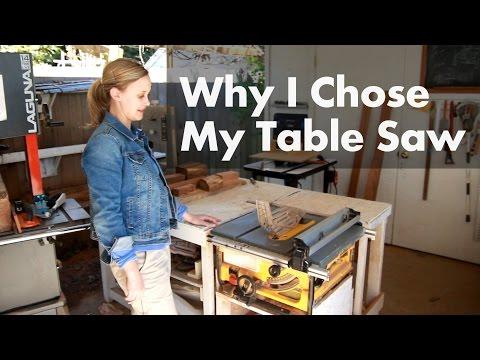 Why I Chose My Dewalt Table Saw - Shop Update March 2016