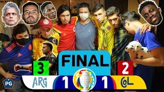 Argentina 1 Colombia 1 (3 - 2 Penales) ? Copa América 2021 ? Reacciones Amigos? El Club de la Ironía