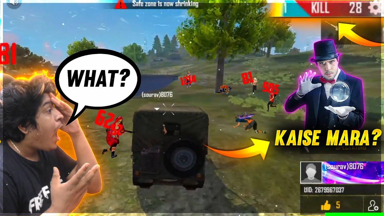 What Tricks Hacker ? Magic of Cars 38 Kills Solo Player 😲   Kaise Mara   Garena Free Fire