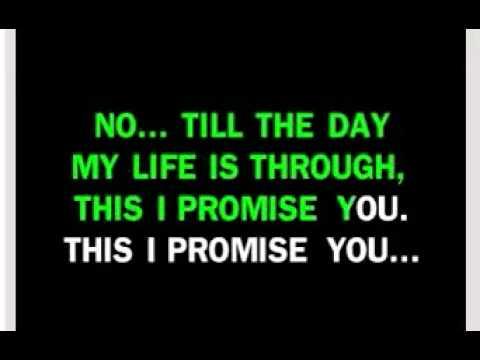 KARAOKE   THIS I PROMISE YOU