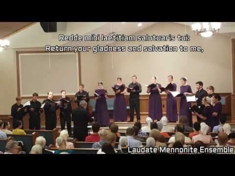Miserere Mei, Deus - Laudate Mennonite Ensemble - w/lyrics