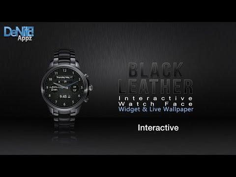 Black Leather Hd Watchface Widget Live Wallpaper Apps On Google Play
