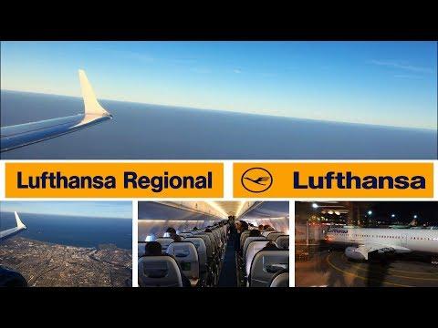 Lufthansa Cityline Embraer 190 Aberdeen To Frankfurt Main FULL FLIGHT