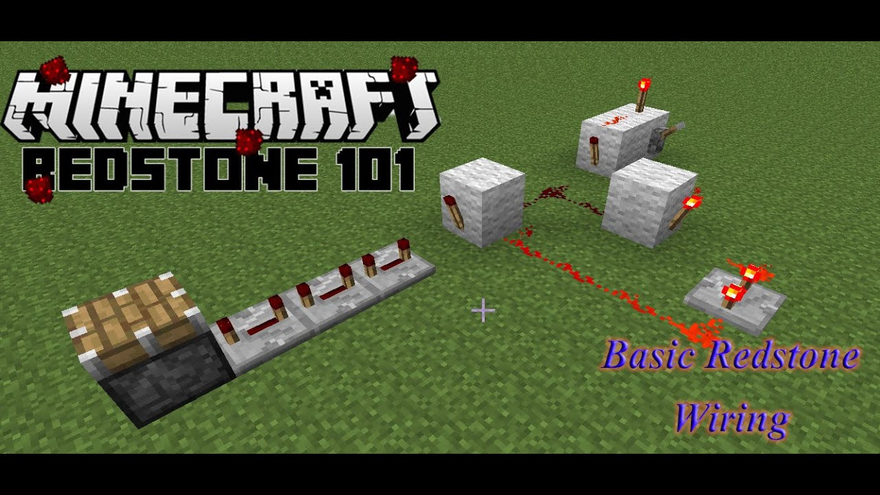 Minecraft Monday Redstone 101 Basic Wiring Youtube For Dummies