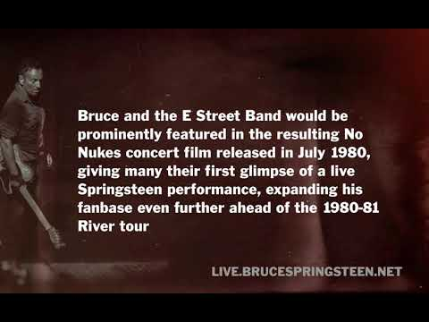 """Bruce Springsteen """"The River"""" No Nukes Concert Sept 21-22 1979 Mp3"""