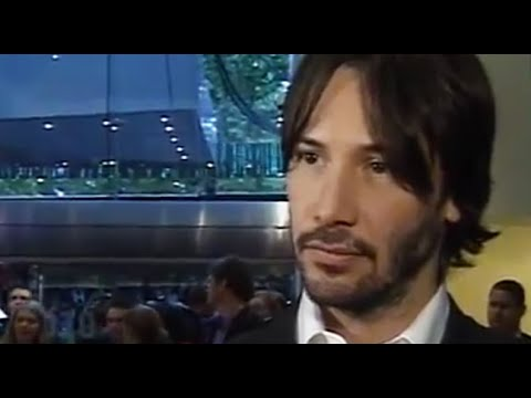 Keanu Reeves takes a ten second pause to absorb a question