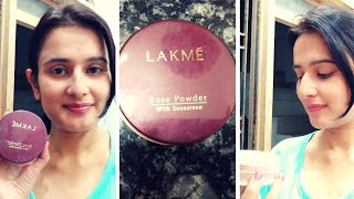 LAKME Rose Powder With Sunscreen Shade- 01 Soft Pink Honest Review amp Demo SWATI BHAMBRA