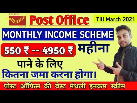 post office monthly income scheme । 2021 बेस्ट स्कीम इन पोस्ट ऑफिस।