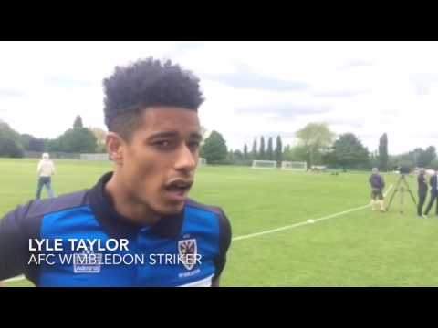 AFC Wimbledon's Neal Ardley and Lyle Taylor looking ahead to League Two play-off final