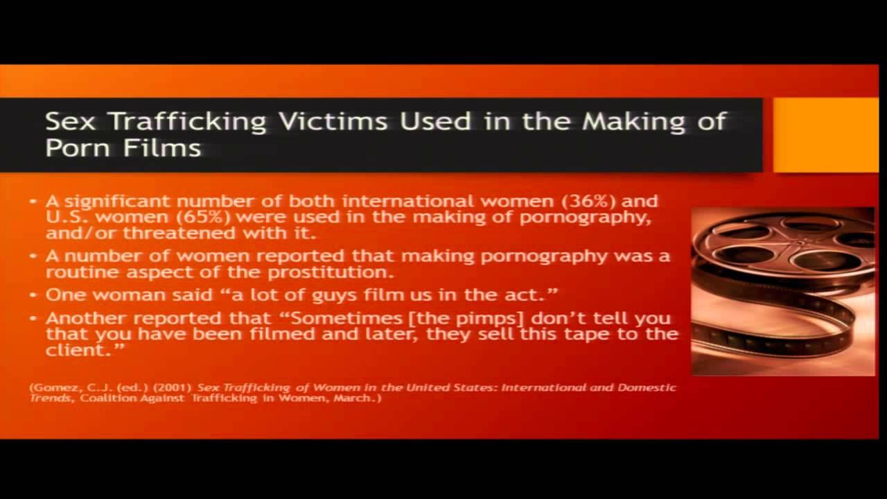 pornography Human trafficking and
