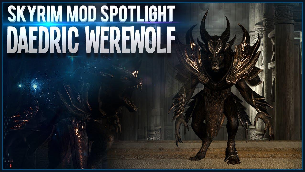 Skyrim Mod Spotlight - Daedric Werewolf Lord Armour [Beast Form ...