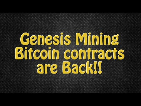 Bitcoin Mining Contracts are Back on Genesis Mining! Limited Pre-sale!