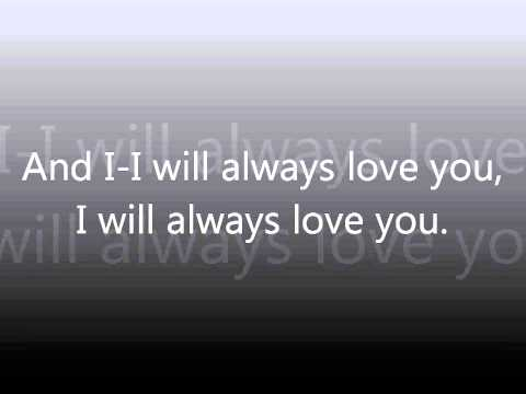 I will love you for always lyrics