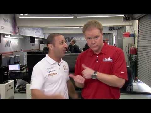 IndyCar driver Tony Kanaan, RTV6's Dave Furst blooper reel
