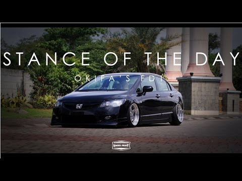 stance   day okifas honda civic fd youtube