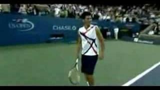 Djokovic impersonates Fed,Nadal,ARod,Hewitt,Sharapova,Goran thumbnail