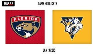 NHL Highlights   Florida Panthers vs  Nashville Predators   Jan  19, 2019