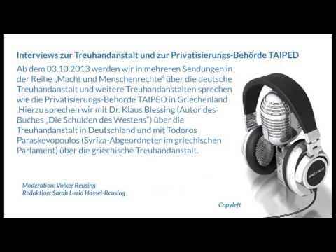 Interviews zur Treuhandanstalt und zur Privatisierungs-Behörde TAIPED