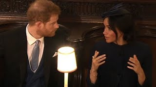 Did Prince Harry and Meghan have a tiff at the royal wedding?