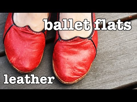 How to Make Leather Shoes - Ballet Flats