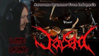 Black Metal Drummer Reacts: | OKI FADHLAN | Jasad - Siliwangi