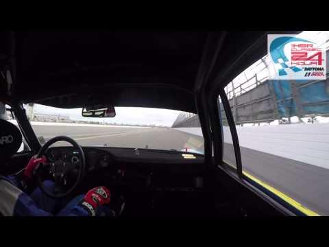 Bobby Rahal Classic 24 hour onboard 911 RSR  at Daytona