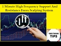 1 Minute High Frequency Support And Resistance Forex Scalping System