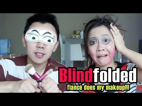 BLINDFOLDED Fiancé Does My Makeup!!