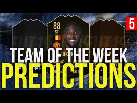 FIFA 19 - TOTW PREDICTIONS 5 | LUKAKU | SANDRO | SILVA