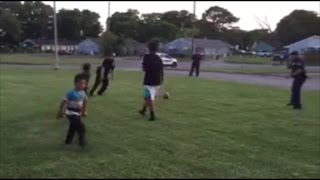 Cops Respond To Neighbors Noise Complaint By Joining Kids For Soccer Game