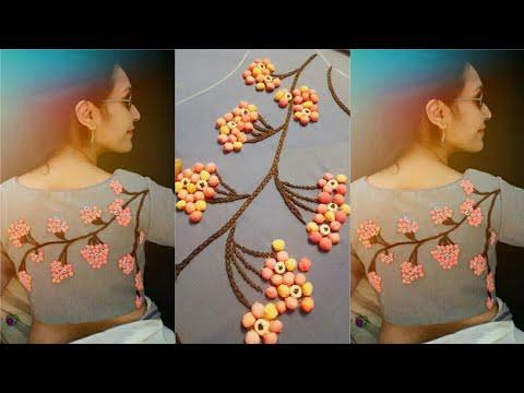 3d creative and innovative idea to design on blouse/ kurti/ chudidhar