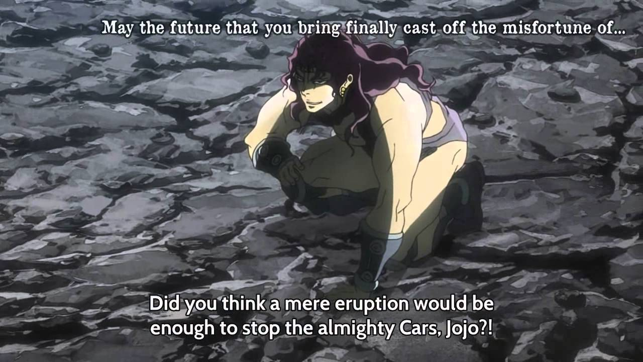 jojo s bizarre adventure cars banishment youtube