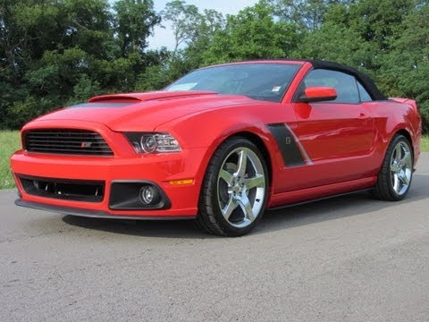 Sold 2013 Roush Stage 3 Mustang Convertible Race Red 6spd