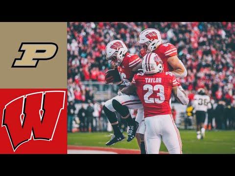 Purdue Vs #12 Wisconsin Highlights | NCAAF Week 13 | College Football Highlights